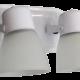 Aplique de 2 luces con base oval blanco, con tulipa de policarbonato - San justo