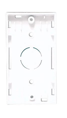 Base rectangular blanca para 1 módulo - Jeluz