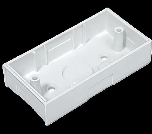 Base rectangular blanca para 1 módulo extrachato - Jeluz