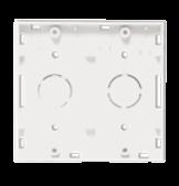 Base cuadrada blanca para 2 módulos - Jeluz