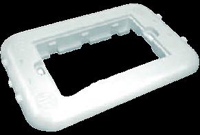 Bastidor rectangular blanco oculto - TAAD