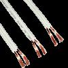 Cable bipolar paralelo blanco 2x1.00mm, con interior expuesto