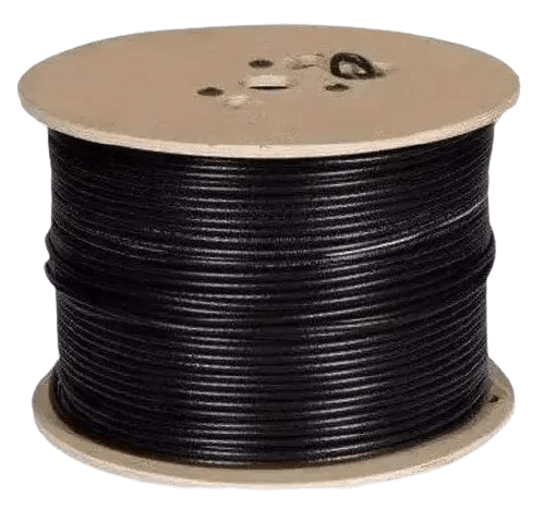 Bovina cable coaxil RG6 negro