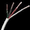Cable para portero blanco de 2 pares, con interior expuesto