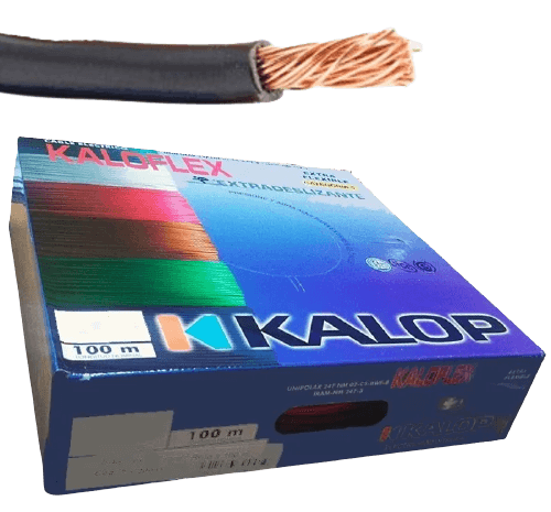 Caja de cable unipolar categoría 5, con cable negro - Kalop