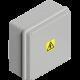 Caja de PVC de derivación gris 115x115x80 IP65 - Genrod