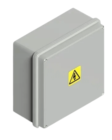 Caja de PVC de derivación gris 115x165x80 IP65 - Genrod
