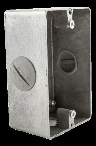 Caja bastidor de aluminio sin tapa - Daisa
