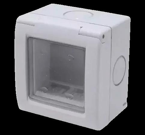 Caja capsulada de exterior de PVC para 2 módulos, con membrana, línea Sigma - Kalop