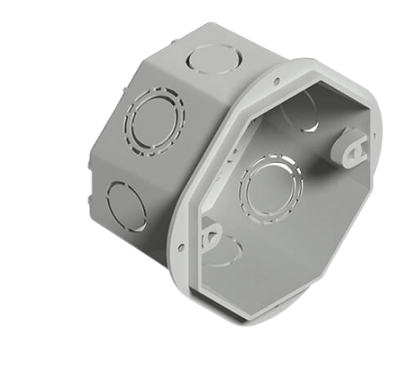 Caja de luz de PVC octogonal de embutir - Genrod