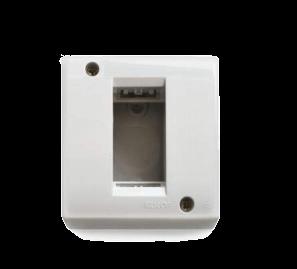 Caja de superficie blanca para 1 módulo, línea Sigma - Kalop