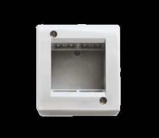 Caja de superficie blanca para 2 módulos, línea Sigma - Kalop
