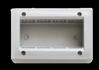 Caja de superficie blanca para 4 módulos, línea Sigma - Kalop