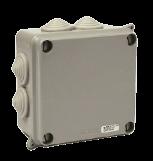 Caja de derivación de PVC gris 102X102X55 - STECK
