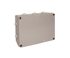 Caja de derivación de PVC gris 234X174X90 - STECK