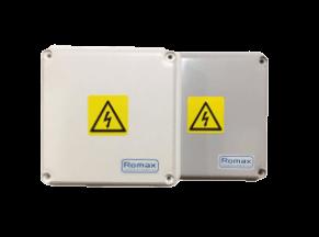 Cajas de derivación gris y blanca PVC 80X80X80 - Romax