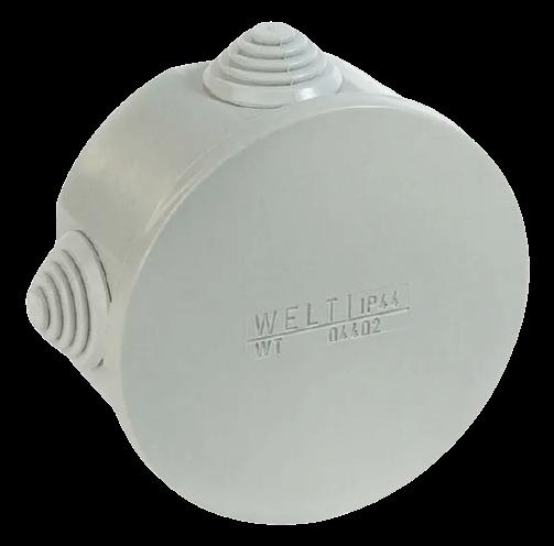 Caja de derivación de PVC redonda blanca - Meltec