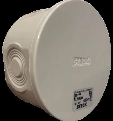 Caja de derivación de PVC redonda gris - Steck