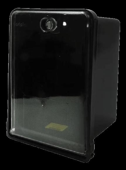 Caja para medidor monofásica, negra con tapa transparente - Variplast