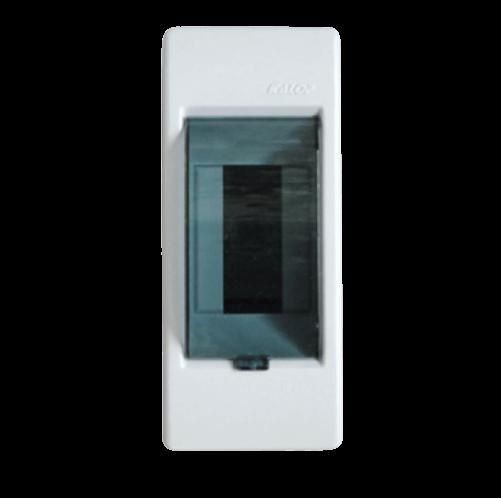 Caja de exterior de PVC para térmicas con puerta, de 2 módulos, línea Sigma - Kalop