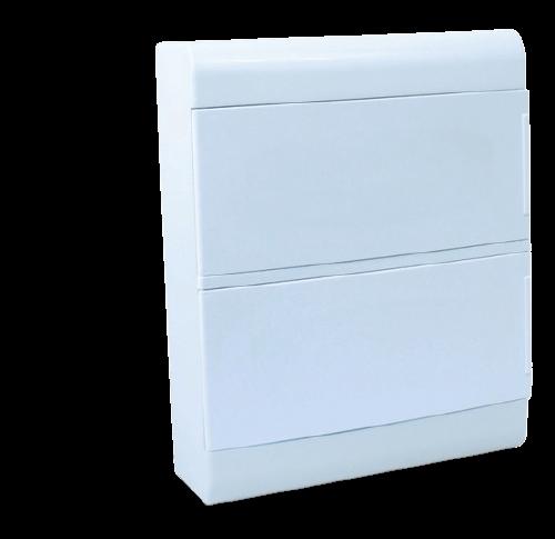 Caja de embutir de PVC para térmicas opaca, 24 módulos - Steck