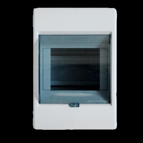 Caja de exterior de PVC para térmicas con puerta, de 4 módulos, línea Sigma - Kalop