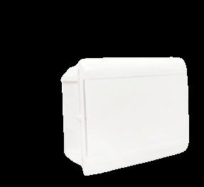 Caja de embutir de PVC para térmicas opaca, de 8 módulos - Steck