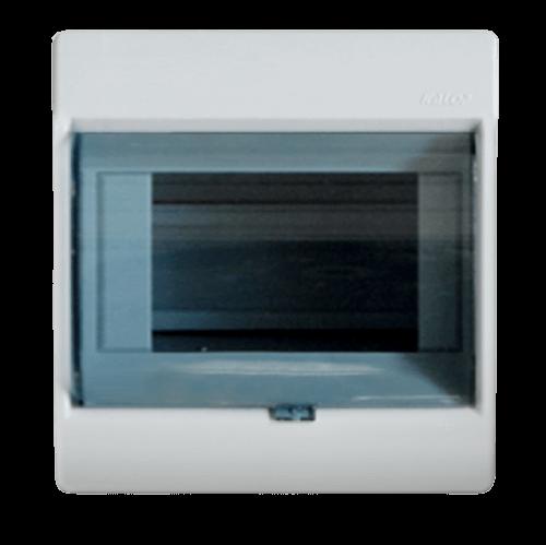 Caja de exterior de PVC para térmicas con puerta, de 6 módulos, línea Sigma - Kalop