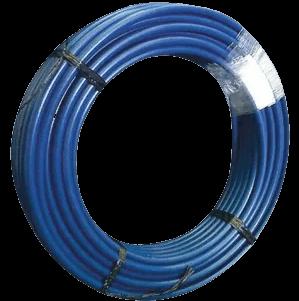 Caño azul bicapa de PVC rollo - Paiplas