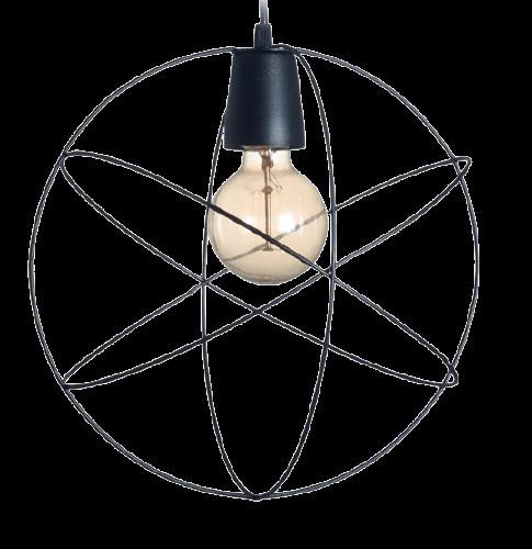 Colgante jaula esfera 1 listón negro - San Justo