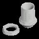 Conector PVC gris, con rosca - Genrod