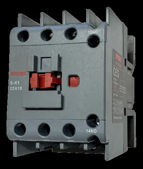 Contactor 32A tripolar, frente negro - Steck