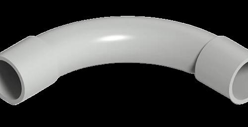Curva PVC gris - Genrod