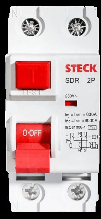 Disyuntor 2x25, foto frontal - Steck