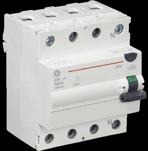 Interruptor diferencial línea G disyuntor tetrapolar AC 300mA línea G - General Electric