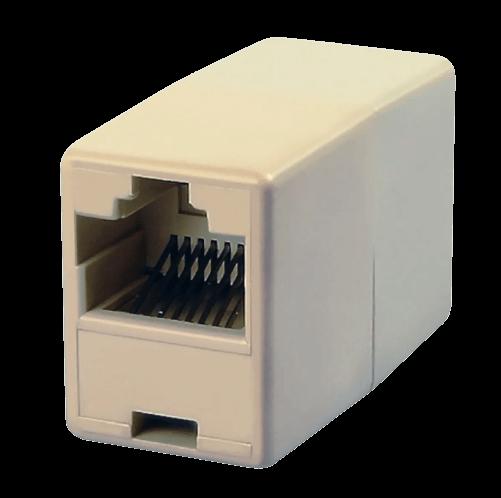 Adaptador doble hembra para prolongación RJ45 8 contactos