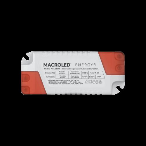 Driver LED de emergencia compatible con paneles 6W, 12W, 18W y 24W - Macroled