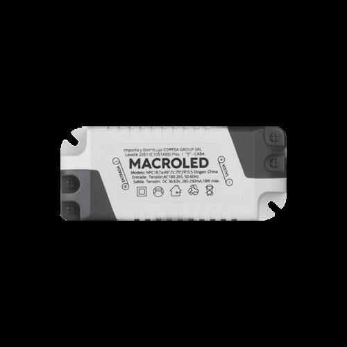 Driver panel LED 18W - Macroled