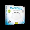 Caja de embutido LED 12W blanco redondo luz fría - Macroled