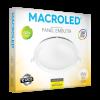 Caja de embutido LED 18W blanco redondo luz cálida - Macroled