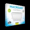 Caja de embutido LED 24W blanco cuadrado luz fría - Macroled