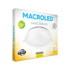 Caja de embutido LED 24W blanco redondo luz cálida - Macroled