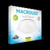 Caja de embutido LED 24W blanco redondo luz fría - Macroled