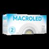 Caja de embutido LED 7W blanco redondo dicroico luz fría - Macroled