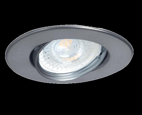 Embutido dicroico móvil redondo acero, con policarbonato - San justo