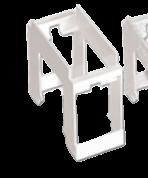 Adaptador riel din de 1 módulo, línea Verona - Jeluz