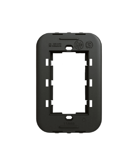 Bastidor rectangular negro oculto 5x10, línea Verona - Jeluz