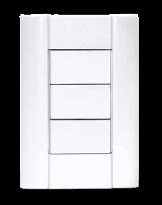 Tapa para bastidor blanca rectangular, línea Verona - Jeluz