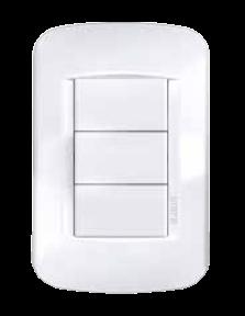 Llave rectangular con tapa Verona regina blanca 5x10, con pulsador no luminoso