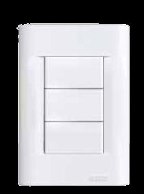 Llave rectangular blanca, con tapa Verona regina BO 5X10 y pulsador no luminoso - Jeluz
